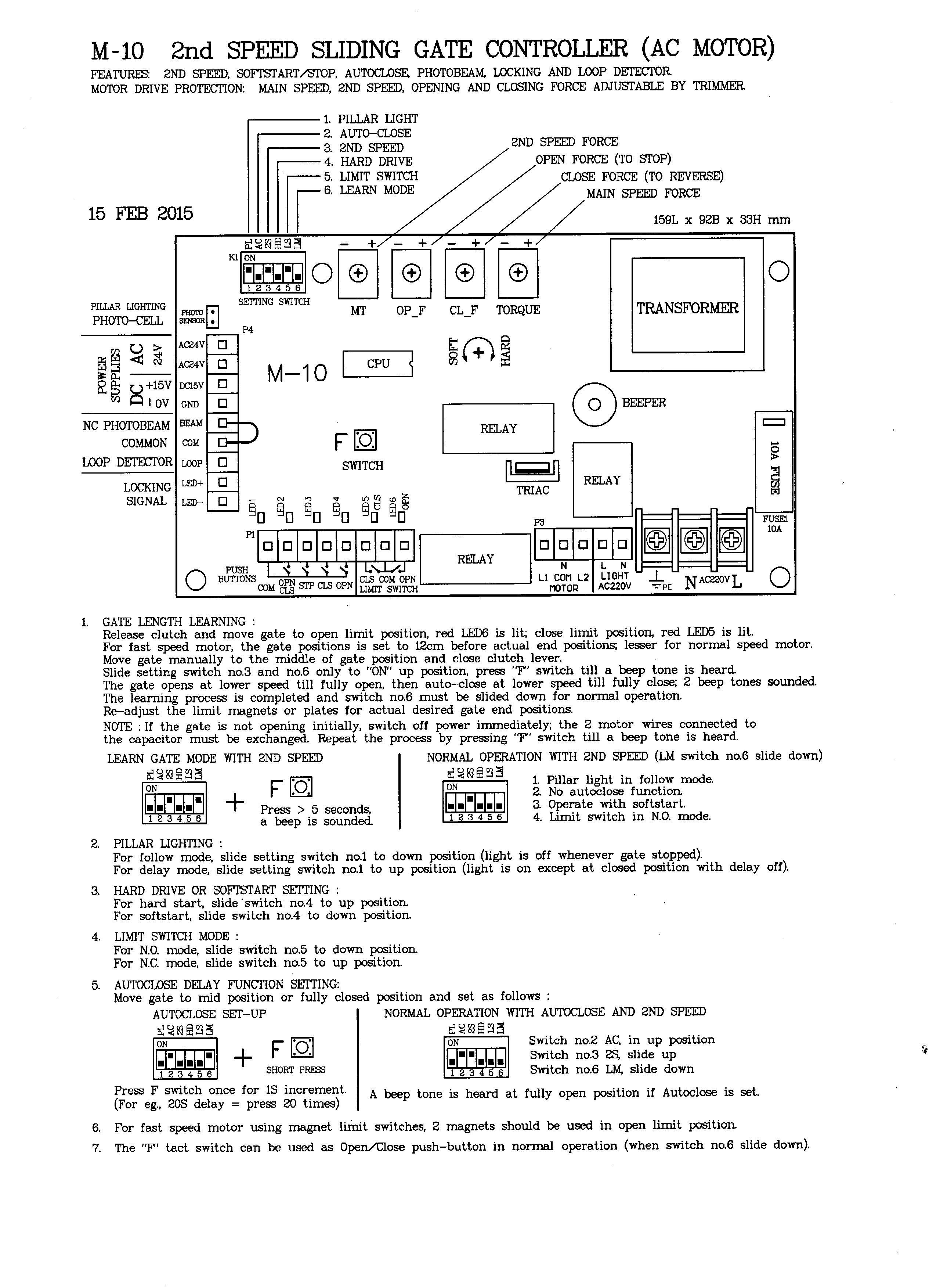 Speedy Starguard Open Close Limit Switch Wiring Diagram Specimen